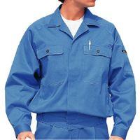 ミドリ安全 綿ブルゾン M6477 上 ブルー 4L  1着(直送品)