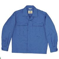 ミドリ安全 綿2つポケットジャンパー M6077 上 ブルー L 1着(直送品)