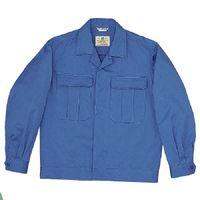 ミドリ安全 綿2つポケットジャンパー M6077 上 ブルー LL 1着(直送品)