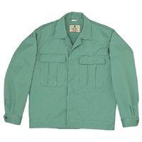 ミドリ安全 混紡2つポケットジャンパー M5209 上 エメラルドグリーン L 1着(直送品)