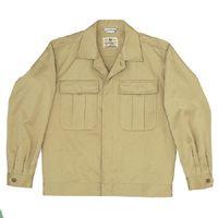 ミドリ安全 綿2つポケットジャンパー M6073 上 カーキ 5L 1着(直送品)