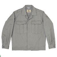 ミドリ安全 綿2つポケットジャンパー M6071 上 グレー L 1着(直送品)