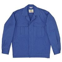 ミドリ安全 綿4つポケットジャンパー M2307 上 ブルー 4L 1着(直送品)