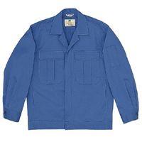 ミドリ安全 混紡4つポケットジャンパー M5603 上 ブルー L 1着(直送品)