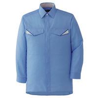 ミドリ安全 ベルデクセルフレックス 長袖シャツ VES223上 ブルー S 1着(直送品)