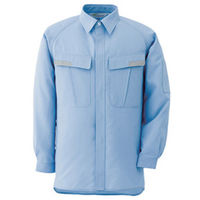 ミドリ安全 ベルデクセル IEC対応高機能男女ペア長袖シャツ VES283上 ブルー 3L 1着(直送品)