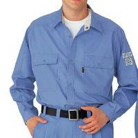 ミドリ安全 ペア長袖シャツ RCS2123 上 ブルー M  1着(直送品)