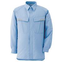 ミドリ安全 ベルデクセル IEC対応高機能男女ペア長袖シャツ VES283上 ブルー S 1着(直送品)