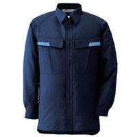 ミドリ安全 ベルデクセル IEC対応高機能 男女ペア長袖シャツ VES287上 ネイビー L 1着(直送品)