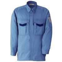 ミドリ安全 男子長袖シャツ RCS2203 上 ブルー LL  1着(直送品)