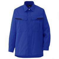 ミドリ安全 ベルデクセルフレックス 男女兼用長袖シャツ VES263上 ロイヤルブルー L 1着(直送品)