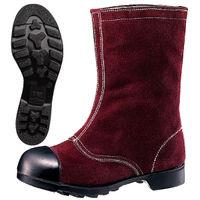 ミドリ安全 安全靴 W344 ブラウン 25.5cm(3E) 1足 (直送品)