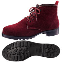 ミドリ安全 耐熱 安全靴 V362 ブラウン 24.0cm(3E) 1足 (直送品)