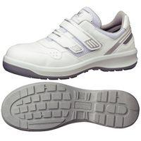 ミドリ安全 安全靴 G3695 マジックタイプ ホワイト 24.5cm 1足(直送品)