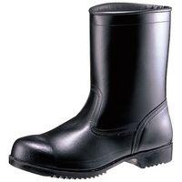 ミドリ安全 JIS規格 安全靴 耐油 耐薬 半長靴 V2400NT 耐滑 26.5cm ブラック 1足 1040002412(直送品)