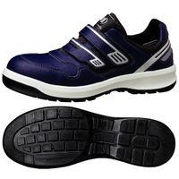 ミドリ安全 安全靴 G3695 マジックタイプ ネイビー 24.0cm 1足(直送品)