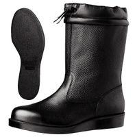 ミドリ安全 JIS規格 安全靴 耐熱 半長靴 VR240フード 28.0cm ブラック 1足 1040042115(直送品)
