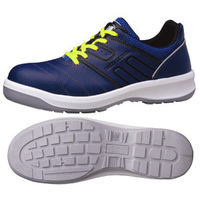 ミドリ安全 安全靴 G3590 静電 ひもタイプ ネイビー 25.5cm 1足(直送品)