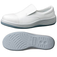ミドリ安全 JIS規格 クリーンルーム用 静電安全靴 スリッポン SCR1200フルCAP 大 30.0cm ホワイト 1足 1703081403(直送品)