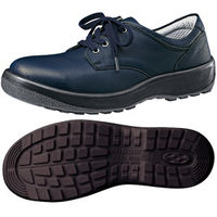 ミドリ安全 女性用 快適安全靴 ハイ・ベルデコンフォート LCF440 ネイビー 22.5cm(3E) 1足 (直送品)
