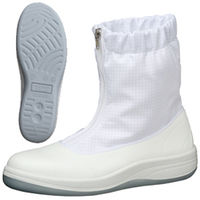 ミドリ安全 静電安全靴 SCR1200 ハーフフード ホワイト 25.5cm 1足(直送品)