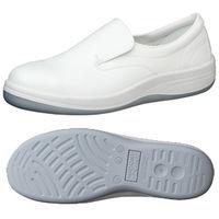 ミドリ安全 JIS規格 クリーンルーム用 静電安全靴 スリッポン SCR1200N 28.0cm ホワイト 1足 1703052215(直送品)