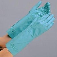 ミドリ安全 ニトリル製手袋 VERTE-251 グリーン M 10双入 1セット(10双入)(直送品)