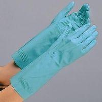 ミドリ安全 ニトリル製手袋 VERTE-251 グリーン L 10双入 1セット(10双入)(直送品)