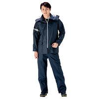 ミドリ安全 雨衣 NP6200 ネイビー L  1着(直送品)
