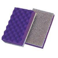 ミドリ安全 スポンジタワシ アロティーX : 紫 10個  1パック(10個入)(直送品)