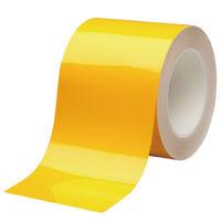 ミドリ安全 ラインテープ ベルデビバハードテープ 黄 100mmX20M 1巻(直送品)