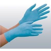 ミドリ安全 ニトリルゴム製手袋 VERTEー792 ブルー L 100枚入り 1箱(100枚入)(直送品)