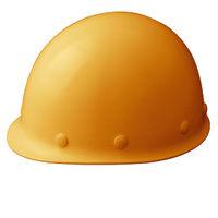 ミドリ安全 ヘルメット FRP イエロー 頭囲/55cm~62cm SC-M RA KP付 1個 (直送品)