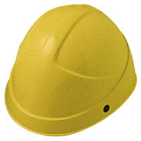 ミドリ安全 ヘルメット ABS イエロー 頭囲/55cm~62cm SC-3H KP付 1個 (直送品)