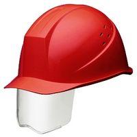 ミドリ安全 ヘルメット ABS レッド 頭囲/55cm~62cm SC-11BVS RA KP付 1個 (直送品)