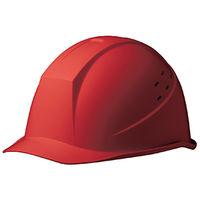 ミドリ安全 ヘルメット ABS レッド 頭囲/55cm~62cm SC-11BV RA KP付 1個 (直送品)