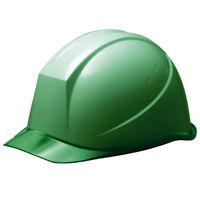 ミドリ安全 ヘルメット PC(ポリカーボネート) グリーン/グリーン 頭囲/55cm~62cm SC-11PCL RA KP付 1個 (直送品)