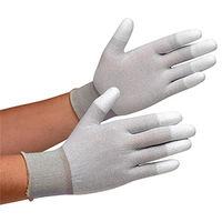 ミドリ安全 静電気拡散性手袋 MCGー801  指先コーティング SS 10双/袋 1袋(10双入)(直送品)