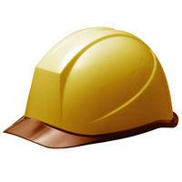 ミドリ安全 ヘルメット PC(ポリカーボネート) イエロー/ブラウン 頭囲/55cm~62cm SC-11PCL RA KP付 1個 (直送品)