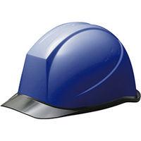 ミドリ安全 ヘルメット PC(ポリカーボネート) ブルー/スモーク 頭囲/55cm~62cm SC-11PCL RA KP付 1個 (直送品)