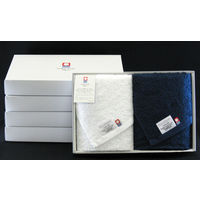 田中産業 今治ベーシックタオル フェイス2枚組ギフトセット BASICF2-05 1セット(5箱) (直送品)
