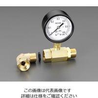 "esco(エスコ) G1/2""xG1/2""水圧テストゲージ EA115F-3 1個 (直送品)"