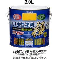 エスコ(esco) 3.0L [水性]多目的塗料(ダークブラウン) 1缶(3000mL) EA942E-33(直送品)