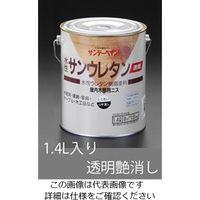 エスコ(esco) 1.4 L 速乾水性・木部ニス(透明つや消し) 1缶(1400mL) EA942EL-22(直送品)