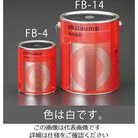 エスコ(esco) 1.0kg 耐熱塗料(半艶・白) 1缶(1000g) EA942FB-4(直送品)