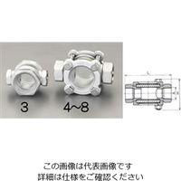 """エスコ(esco) PT1/2""""[透視式]サイトグラス(ステンレス製) 1個 EA469SC-4(直送品)"""