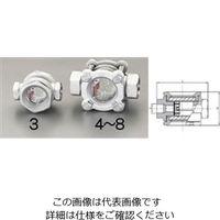 """エスコ(esco) PT3/8""""[フラッパー式]サイトグラス(ステンレス製) 1個 EA469SD-3(直送品)"""