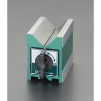 エスコ(esco) 95x70x100mm Vブロック(マグネット付) 1個 EA719DL-2(直送品)