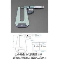 エスコ(esco) 0-25mm/105m マイクロメーター(デジタル/深型) 1個 EA725EH-37(直送品)