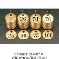 エスコ(esco) 26 ー 50 25枚組ナンバーチェック(25mm丸) 1組 EA591HH-2(直送品)